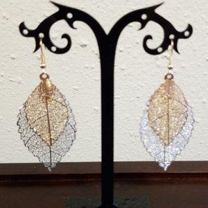 LZHLQ Vintage Leaves Drop Earrings Luxury Boho Boh